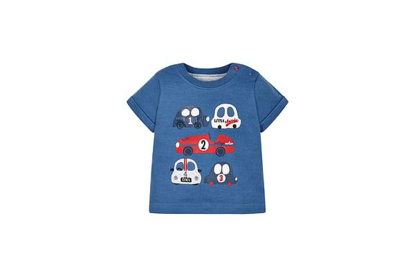 Boys Vintage Car T-Shirt - Blue