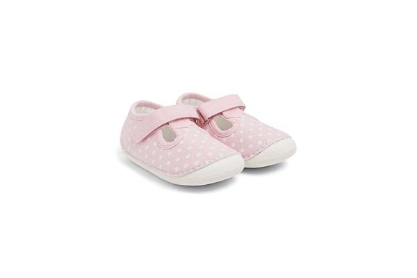 Girls  Spotty Crawler Shoes - Pink