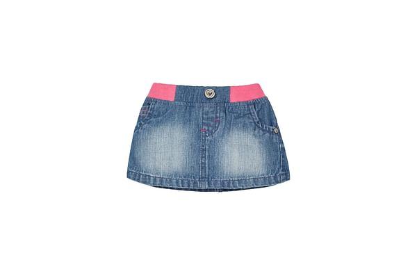 Girls Ribwaist Denim Skirt - Denim