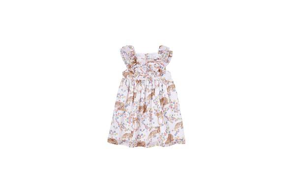 Girls Deer Dress  - Cream