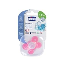 Chicco Soother Comfort Pink Silicone Soother