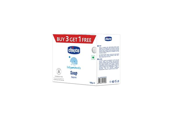 Chicco Soap Baby Moments 125Gr Buy 3 Get 1 Free