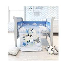 Fancy Fluff Organic Baby Cot Bedding Set - Arctic