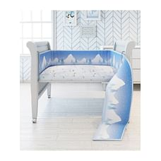Fancy Fluff Organic Baby Cot Bedding Set - Arctic