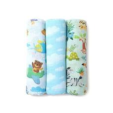 Fancy Fluff Organic Swaddle Wraps -  Animal