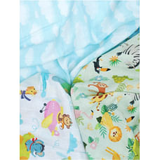 Fancy Fluff Organic Swaddle Wraps -  Animal