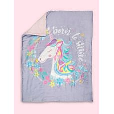 Fancy Fluff Organic Baby Comforter - Unicorn