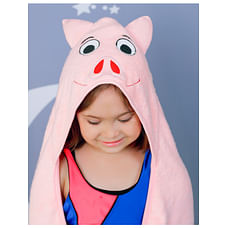 Rabitat Kids Hooded Towel - Pig