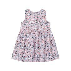 Girls Sleeveless Casual dress- Multicolored