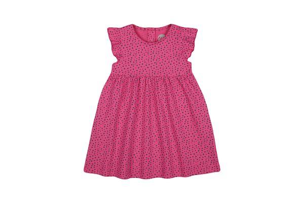 Girls Sleeveless Casual dress-Printed Pink