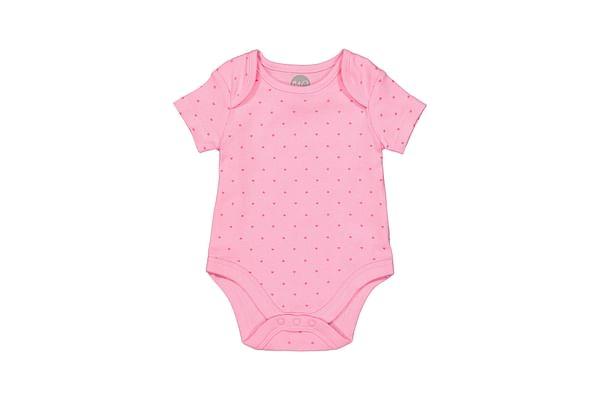 Girls Half sleeve Bodysuit- Pink