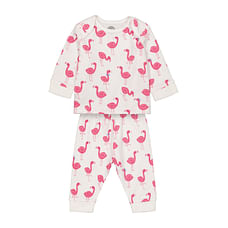 Girls Full sleeve Pyjama set- Multicolored