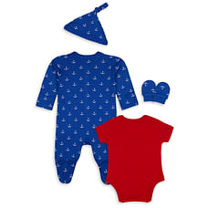 Boys 4pc clothing set- Multicolored
