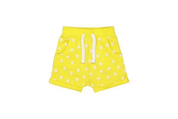 Boys Shorts-Printed Yellow