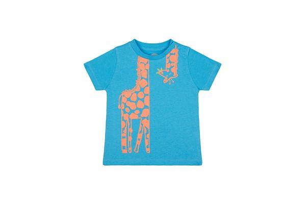 Boys Half sleeve Round neck tee-Printed Blue