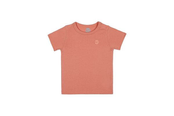 Boys Half sleeve Round neck tee- Orange
