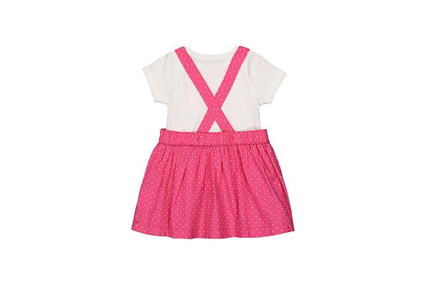 Girls Half sleeve Casual dress- Multicolored