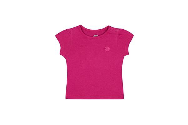 Girls Half sleeve Round neck tee- Pink