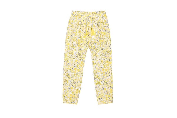 Girls Pants-Printed Yellow