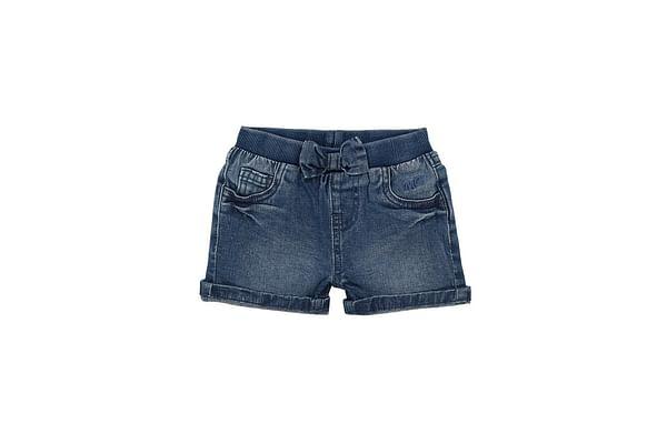 Girls Shorts-Washed Denim