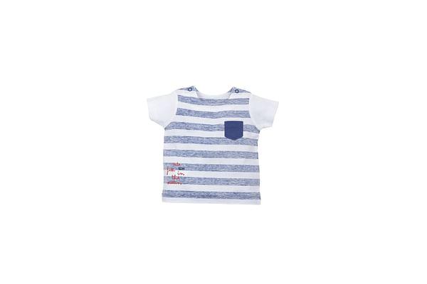Boys Sleeveless T-Shirt Striped - Blue