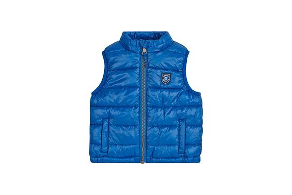 Boys Sleeveless Quilted Jacket - Blue