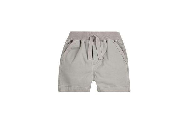 Boys Shorts Ribbed Waist - Grey