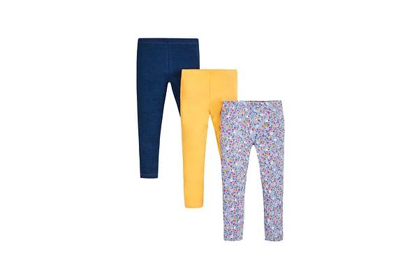 Girls Leggings Floral Print - Pack Of 3 - Multicolor
