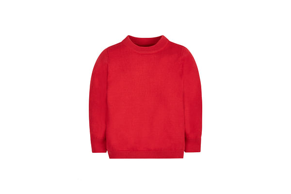 Girls Full Sleeves Sweater - Red