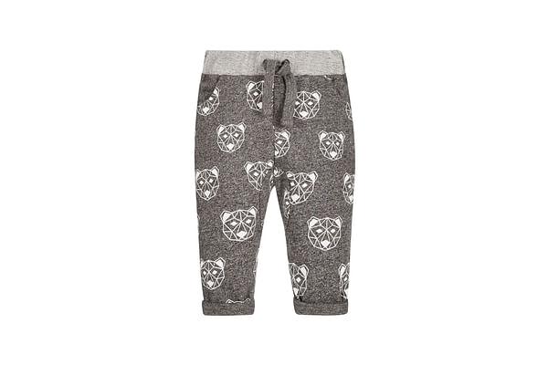 Boys Joggers Bear Print - Grey