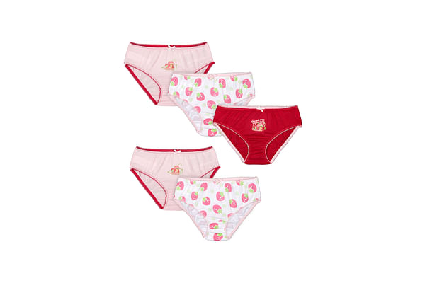 Girls Briefs Printed - Pack Of 5 - Multicolor