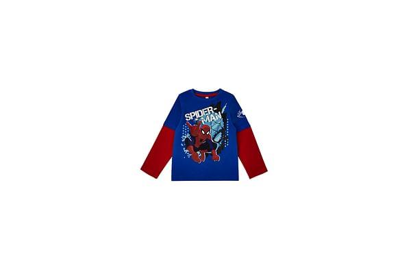 Boys Full Sleeves T-Shirt Spiderman - Blue