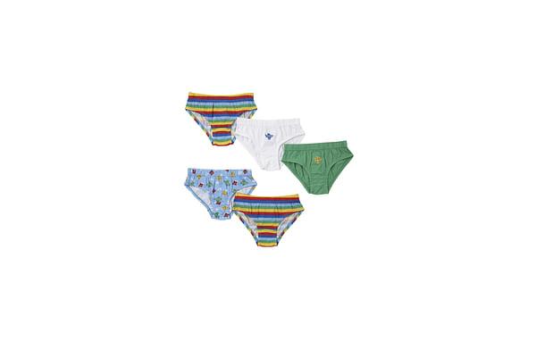 Boys Aeroplane Briefs - Pack Of 5 - Multicolor