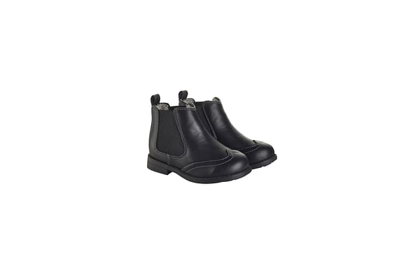 Boys Brogue Chelsea Boots - Black