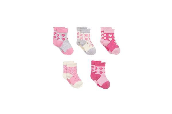 Argyle Heart Socks- 5 Pack