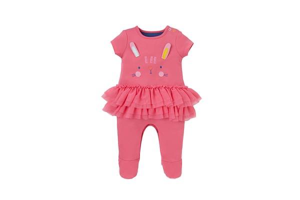 Girls Rabbit Tutu Romper - Pink
