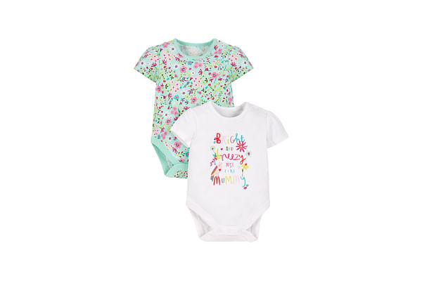 Girls Ditsy Floral Bodysuits - 2 Pack - Multicolor