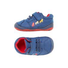 Boys First Walker Lion Crawler Shoes - Navy