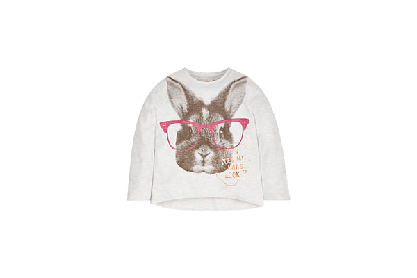 Girls Bunny T-Shirt  - White