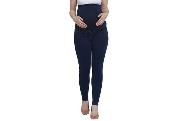 Women Maternity Jeans Medium Wash - Blue