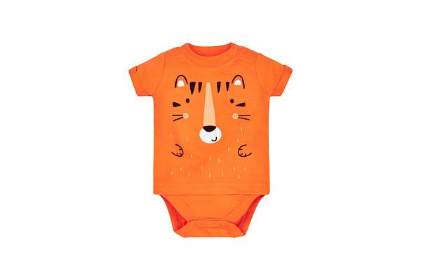 Boys Tiger Bodysuit - Orange