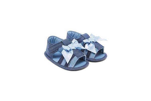 Girls Denim Sandals - Blue