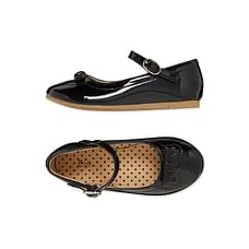 Girls Bow Ballerina Shoes - Black