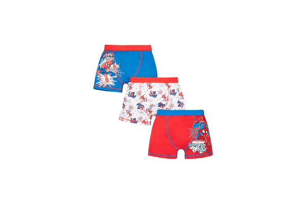 Boys Marvel Spiderman Trunks - 3 Pack - Blue