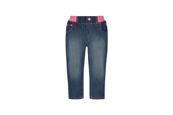 Girls Ribwaist Denim Jeans - Blue