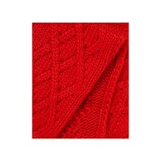 Red Cable Knit Scarf