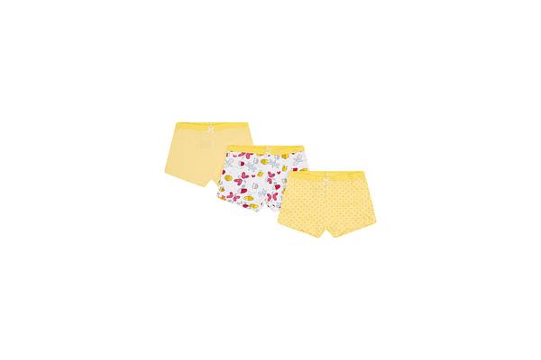 Girls Bee Shorts - 3 Pack - Yellow