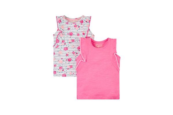 Pink And Floral Vests - 2 Pack