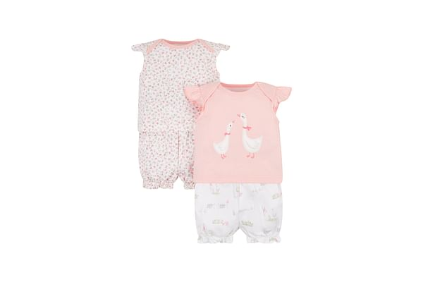 Floral Geese Shortie Pyjamas - 2 Pack
