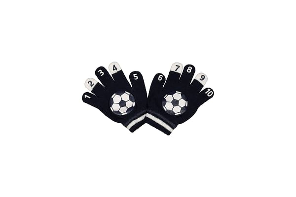 Boys Football Magic Count Gloves - Navy